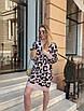 Модное женское платье из полушерсти с принтом лео, фото 3