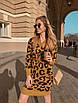 Модное женское платье из полушерсти с принтом лео, фото 4