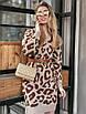 Модное женское платье из полушерсти с принтом лео, фото 2