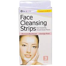 """Чистящие полоски от угрей Nu-Pore """"Face Cleansing Strips"""" глубокое очищение пор (3 полоски)"""