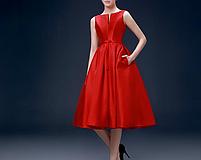 Жіночу червону атласну сукню., фото 5