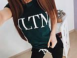 """Женский стильный костюм """"VLTN"""": футболка и капри в расцветках (расцветки), фото 2"""