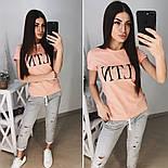 """Женский стильный костюм """"VLTN"""": футболка и капри в расцветках (расцветки), фото 3"""