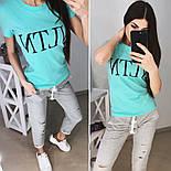"""Женский стильный костюм """"VLTN"""": футболка и капри в расцветках (расцветки), фото 4"""