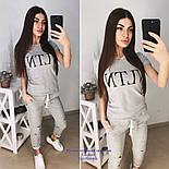 """Женский стильный костюм """"VLTN"""": футболка и капри в расцветках (расцветки), фото 7"""
