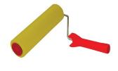 Валик прижимной резиновый БРИГАДИР Standart, 8*250 (64332004)