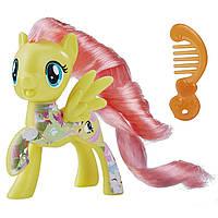 Фигурка пони лошадка Май Литл Пони Флаттершай с расческой/My Little Pony: The Movie All About Fluttershy E0993