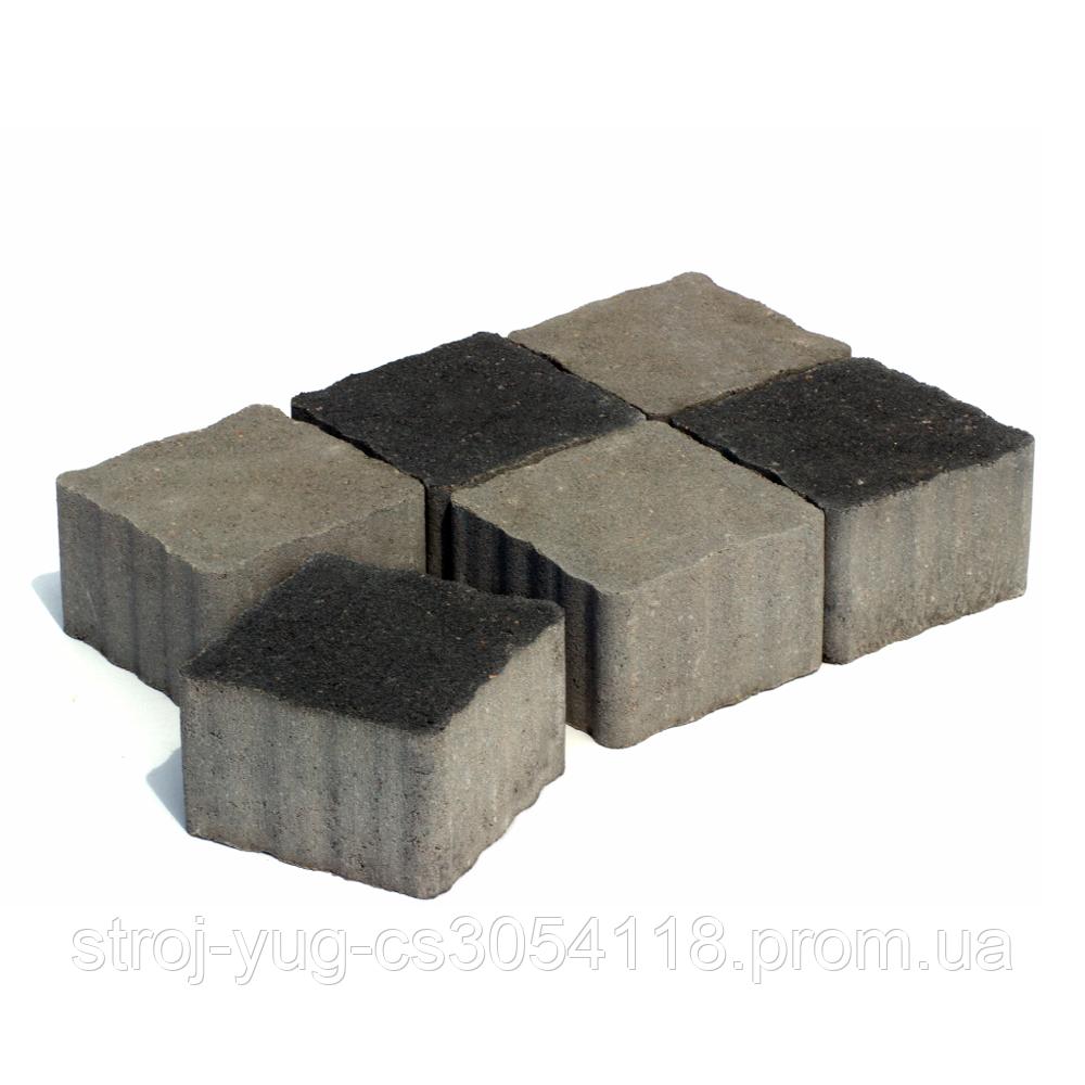 Тротуарная плитка «Австрийский брук», черный, 60 мм, заводское качество