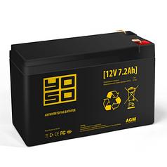 Аккумуляторная батарея YOSO 1272F1, Black Case, 12V 7.2Ah (151х65х93 (98) мм) Q10 (YOSO)