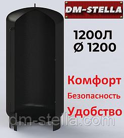 Буферная емкость (теплоаккумулятор) 1200 литров, Ø 1200 мм, сталь 3 мм