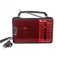 Компактный мультидиапазонний радиоприемник Golon RX-A08AC красного цвета