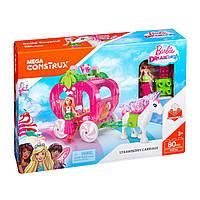 Конструктор Принцесса Барби Клубничная карета Мега Блокс Mega Construx Princess Barbie Mega Bloks FFP26