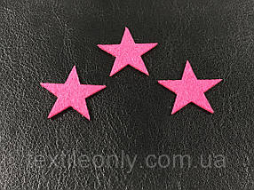 Аппликация звезда цвет розовый 25х24 мм