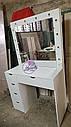 Туалетный стол для макияжа, Стол визажиста, зеркало с подсветкой, белый., фото 5