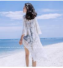 Пляжная туника. Белая. Кружево