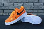 Кроссовки Nike Air Force 1 Low Just Do It, оранжевые, фото 2