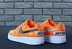Кроссовки Nike Air Force 1 Low Just Do It, оранжевые, фото 5