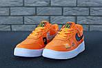 Кроссовки Nike Air Force 1 Low Just Do It, оранжевые, фото 7