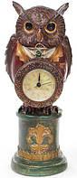 Декоративная фигурка с часами Мудрая Сова в красном кафтане 32см (psg_BD-419-129-PA)
