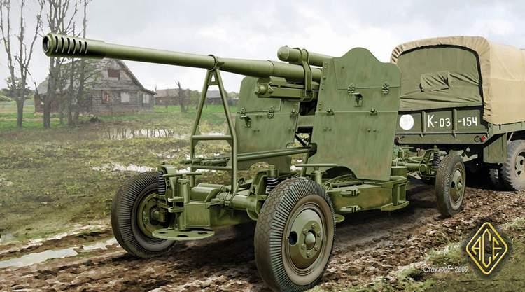 52-K 85мм зенітна гармата (пізня версія). 1/72 ACE 72274