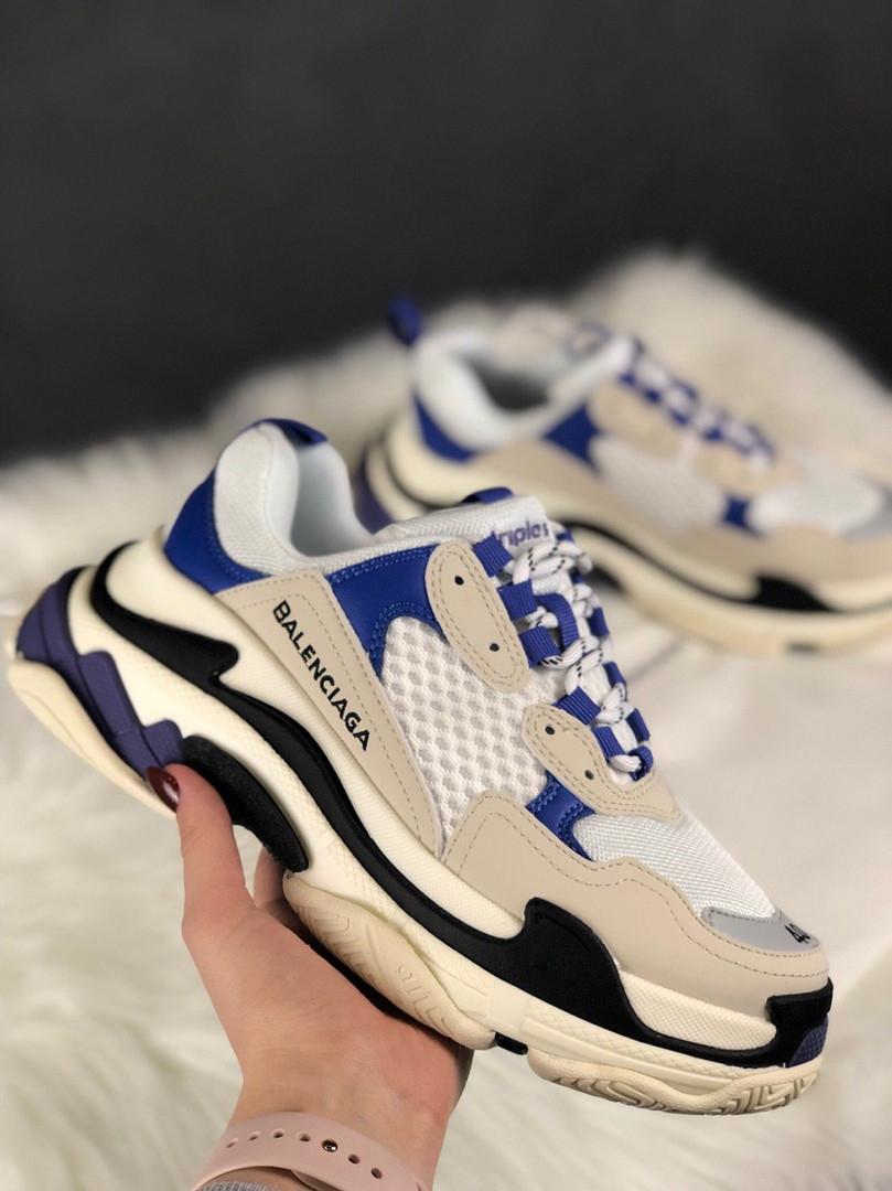 Женские кроссовки Balenciaga Triple S Blue Violet