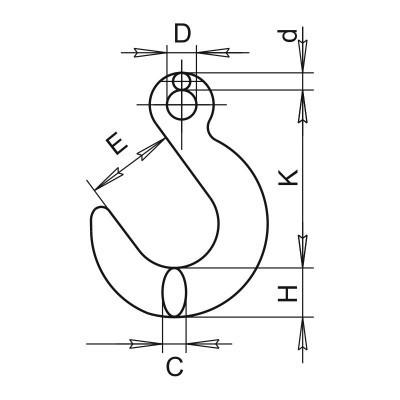 Крюк SL-15 чертеж