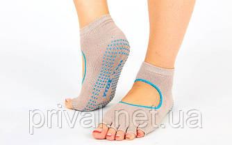 Носки для йоги и танцев без пальцев FI-6985