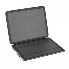 Power bank 10000 mAh Solar, (5V/200mA), 2xUSB, 5V/1A/2,1A, USB microUSB, ударо защищеный прорезиненный корпус, Black, Corton BOX (SG-005G)