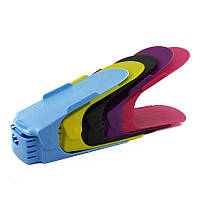 Двойная стойка для хранения обуви, органайзер для обуви, стойка для обуви черная, желтая, бежевая