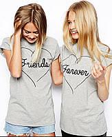 Купить парные футболки для подруг