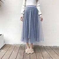 Красивая шифоновая юбка с трикотажной подкладкой