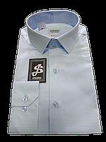 Рубашка полуприталенная в клетку  №10 - 6406/3, фото 1