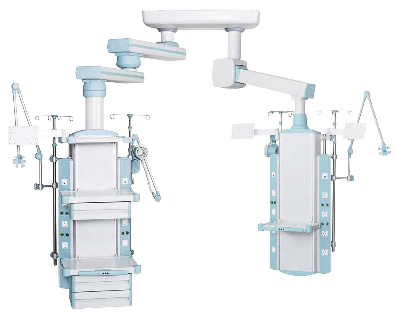 Консоль интенсивной терапии - вертикальная - двухплечевая, механическая, двухконсольная