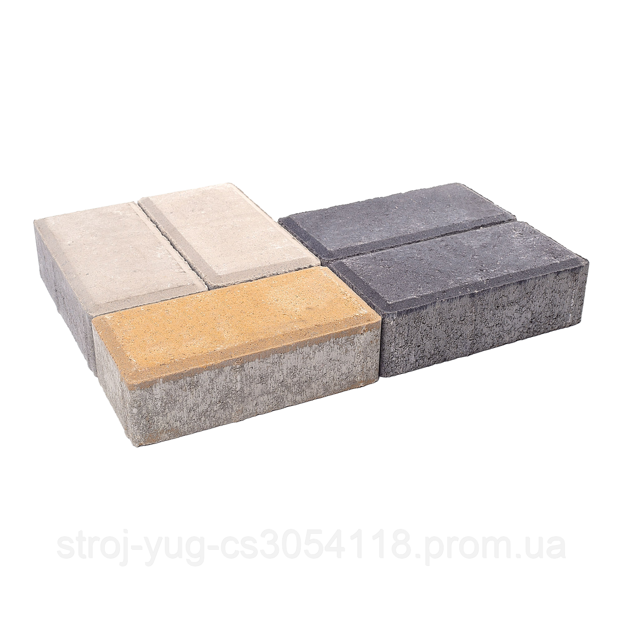 Тротуарная плитка «Брусчатка», серый, 60 мм, заводское качество