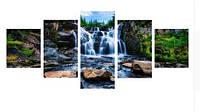 Алмазная вышивка 90*45 (Полная выкладка) Водопад