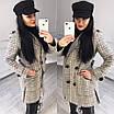Женское демисезонное Пальто прямое двубортное 58lt168, фото 4