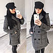 Женское демисезонное Пальто прямое двубортное 58lt168, фото 5