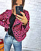 Женская кожаная куртка косуха однотонная и с принтом 3ki193, фото 2