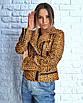 Женская кожаная куртка косуха однотонная и с принтом 3ki193, фото 3