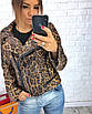 Женская кожаная куртка косуха однотонная и с принтом 3ki193, фото 4