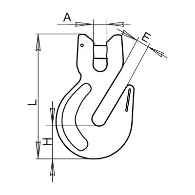 Крюк SL-86 чертеж