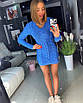 Вязаное короткое платье с косичкой 18ty2409, фото 2