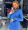 Вязаное короткое платье с косичкой 18ty2409, фото 6
