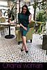Приталенное платье из трикотажа длиной ниже колена 2ty2416, фото 3