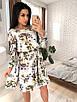 Цветочное платье с пышной юбкой и длинным рукавом 73ty2419, фото 3