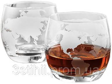 """Набор для виски 2 стакана """"Навколо Світу"""" (640007)"""