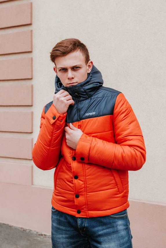 """Мужская Весенняя куртка  Intruder  """"Brave Soul"""" (черный / оранжевый ), фото 2"""