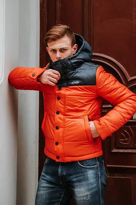 """Мужская Весенняя куртка  Intruder  """"Brave Soul"""" (черный / оранжевый ), фото 3"""