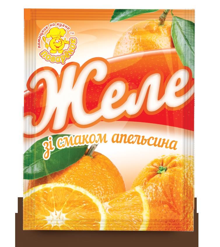 Желе зі смаком апельсина 85 г.