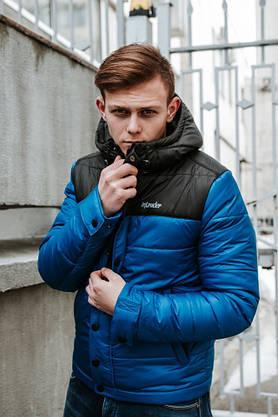 "Мужская Весенняя куртка Intruder  ""Brave Soul"" (черно / синий), фото 2"